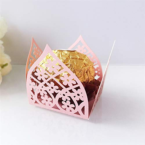 low Chocolate Wrapper Novel Crown Flowers Taffy Chocolate Packing Box Birthday Party Supplies Wedding Candy Decoration G ()