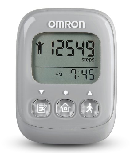 Omron Alvita Ultimate Pedometer, Gray (Horizontal Screen Bar)
