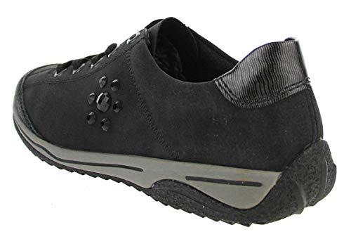 L5229 00 Donna Stringate Scarpe Black Rieker 7wnzIEaxX