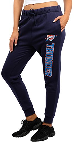 NBA Women's Oklahoma City Thunder Jogger Pants Active Basic Fleece Sweatpants, Medium, Blue