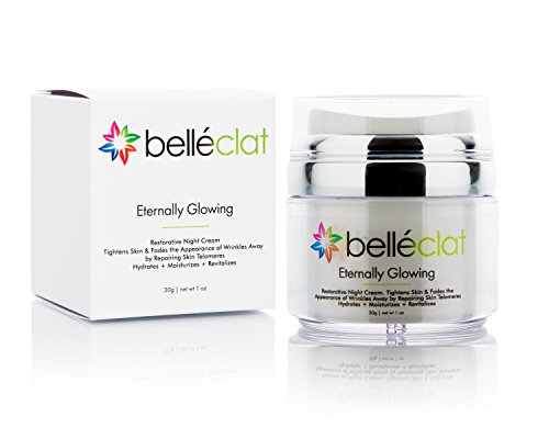 Anti Aging Cream Moisturizer for Face – Bell clat Night Cream DNA Repair Restores and Rejuvenates Youthful Skin, 1 oz