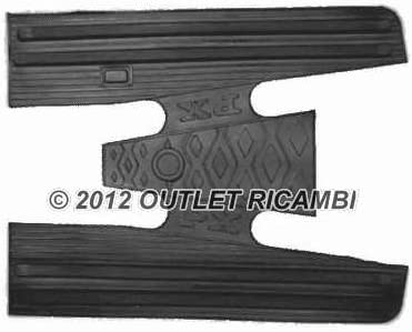 150 200 and PX Arcobaleno Carpet 7424 Black Rubber Mat for Vespa PX 125