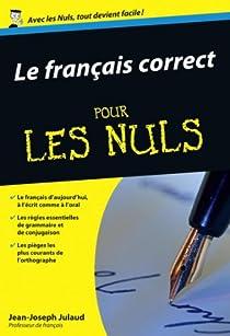 Le français correct pour les nuls par Julaud