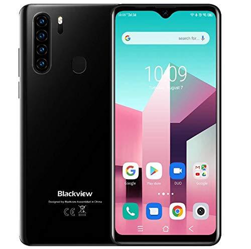 Blackview A80 Plus 【2021】 Smartphone Móvil Libres 4G, Pantalla HD + 6.49'', Helio P22 4GB + 64GB, Cuatro Cámaras…