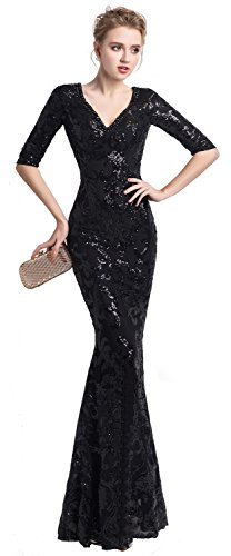 Risestaryiding Women s Party Formal Sequins Dress Sexy Long Evening Dresses 444269af5