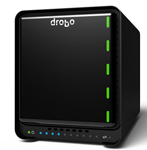 Drobo 5D 20TB: Direct Attached Storage -  5 bay array -  20TB storage included with 5 x 4TB hard drives - USB 3 and 2 x Thunderbolt 2 ports (DRDR5A21-20TB) by Drobo