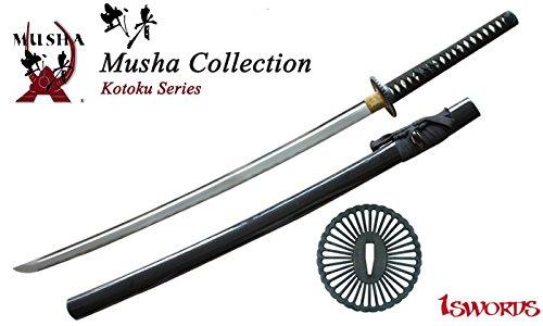 Musha Handmade Sword - Samurai Katana Sword, Battle Ready, Hand Forged, 1045 Carbon Steel by