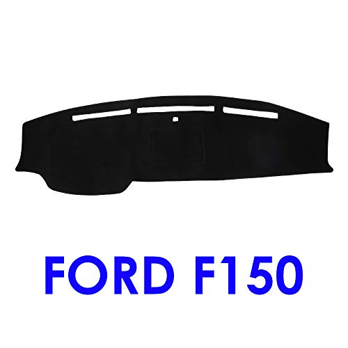 JIAKANUO Auto Car Dashboard Dash Board Cover Mat Fit for Ford F150 2009-2014 (Black)