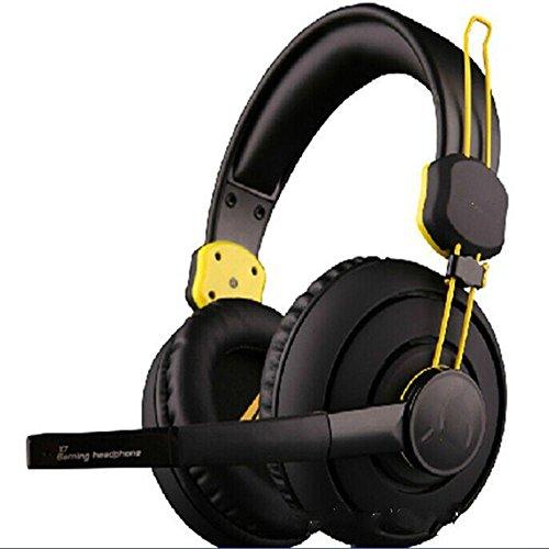 XHKCYOEJ Headset Stereo Headset/Headphones/Headphones/Games/Games/Headphones/Computers/Music/Headphones,Black And Yellow: Amazon.co.uk: Electronics