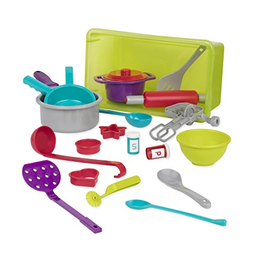 Battat Cookware Kitchen Accessories Toy Playset (21 pieces)