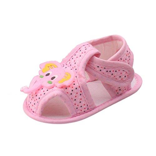 Zapatos de bebé,Xinantime Modelo del Elefante Niño del Bebé de las Sandalias (12, Rosado) rosa