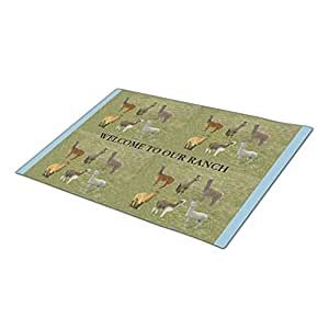 Queenser Farm Animal Animal Monogrammed Door Mat