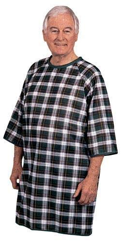 Men's Plaid Flannel Sleep Shirt / Patient Gown from Complete Medical