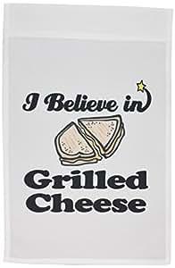 3dRose fl _ 105192_ 1Creo en queso a la parrilla Jardín bandera, 12por 45,72cm
