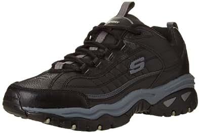 Skechers Sport Men's Energy Afterburn Lace-Up Sneaker,Black,6.5 M