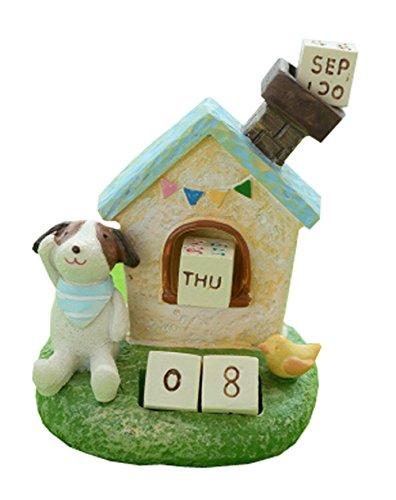 Creative Building Block Puzzle Animal Table Perpetual Calendar- Dog