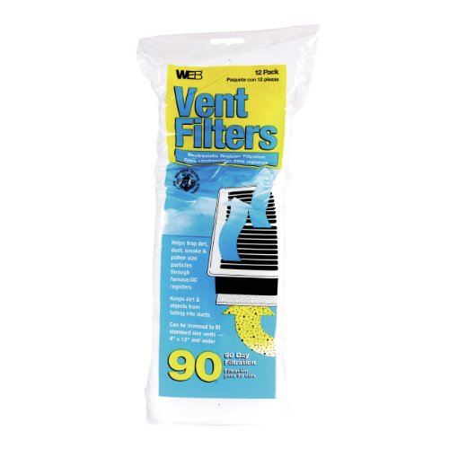 "Web Products Wvent 4"" X 12"" Floor Register Vent Filter 12 Co"