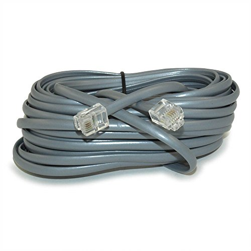 MyCableMart 14Ft RJ11 Modular Telephone Cable, (6P4C), 4 Conductor/2 Lines Reverse ()