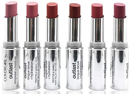 COVERGIRL Outlast Longwear + Moisture Lipstick 6-Piece Set (Reds & Pinks)