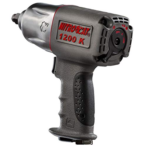 NitroCat 1200-K 1/2-Inch Kevlar Composite Air Impact Wrench With Twin Clutch Mechanism from NitroCat