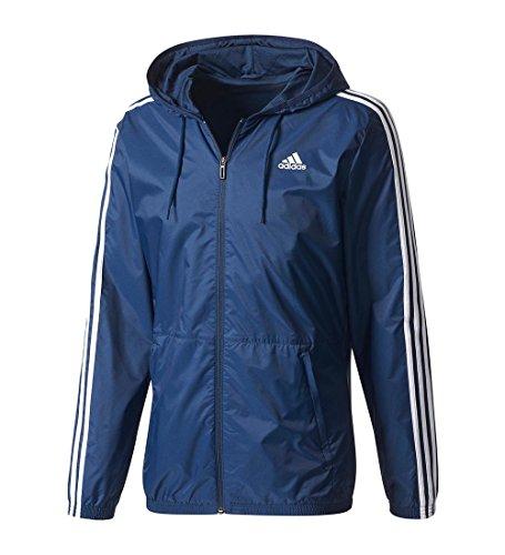 Adidas Men's Essentials Wind Jacket, Collegiate Navy/Collegiate Navy/White, 3X-Large