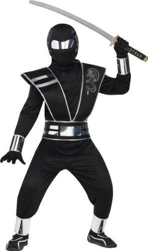 Silver Mirror Ninja Child Costumes (Morris Costumes Silver Mirror Ninja Chld Md)