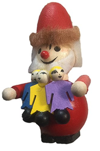 Steinbach Collectible Ornament Santa with Dolls