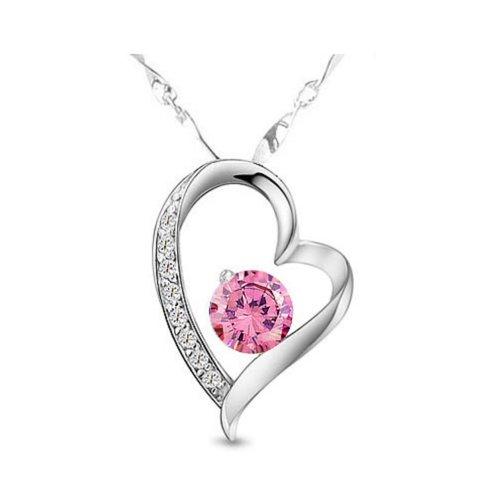 KATGI Austrian Crystals Heart Shape Pendant