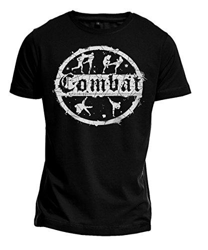 T-Shirt COMBAT Kampfsport, MMA, Kickboxen, Judo, Free Fight, Budosport, schwarz