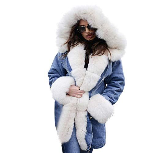 LISTHA Faux Fur Coat Women Hooded Warm Overcoat Winter Thick Jackets Pockets