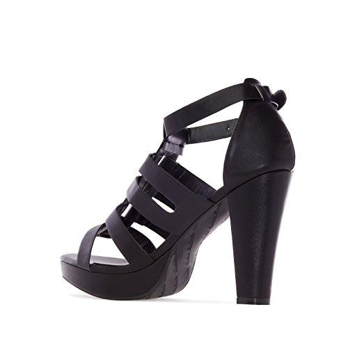 Andres Machado. AM5160.Sandalias en Soft.Mujer.Tallas Pequeñas/Grandes. 32/35-42/45. Negro