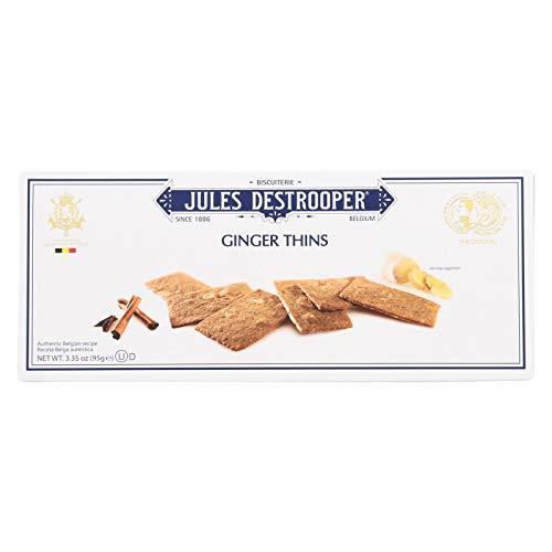 Jules Destrooper Cookies - Ginger Thins - Case of 12 - 3.35 oz.