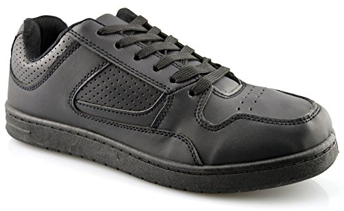 Dek Mens Synthetic Leather Running Shoes Black K88Nn2xh