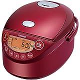 東芝 IHジャー炊飯器(3.5合炊き) グランレッドTOSHIBA 備長炭鍛造かまど釜 RC-6XM-R