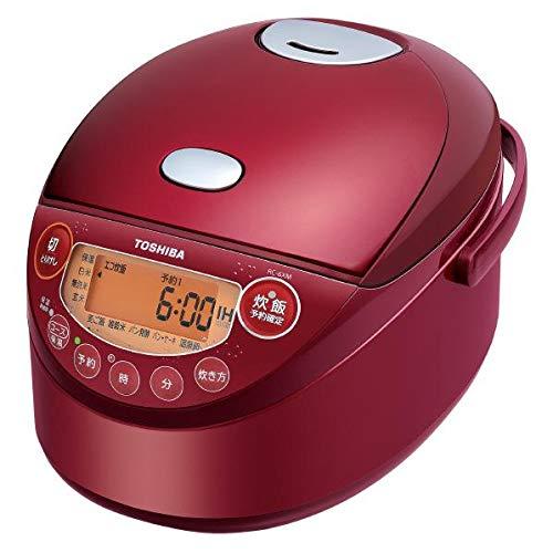 東芝 IHジャー炊飯器(3.5合炊き) グランレッドTOSHIBA 備長炭鍛造かまど釜 RC-6XM-R   B07L2MK4NV