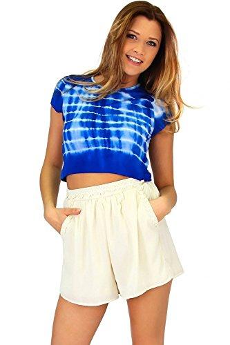 Angesagtes Crop Shirt im Batik look Blau