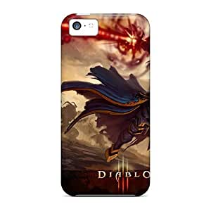lintao diy 5c Scratch-proof Protection Case Cover For Iphone/ Hot Blizzard Entertainment Diablo Iii Games Phone Case