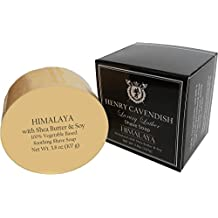 Henry Cavendish Himalaya Shaving Soap with Shea Butter & Coconut Oil. Long Lasting 3.8 oz Puck Refill. Himalaya Fragrance. All Natural. Rich Lather, Smooth Comfortable Shave. For Ladies and Gentlemen.