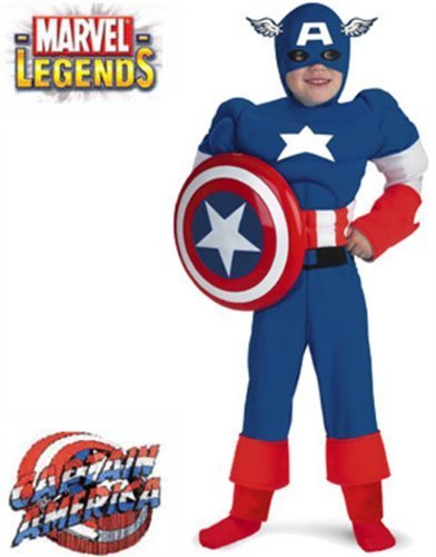 Captain America Deluxe Muscle Child Costume by Disguise - Disguise Costumes Captain America