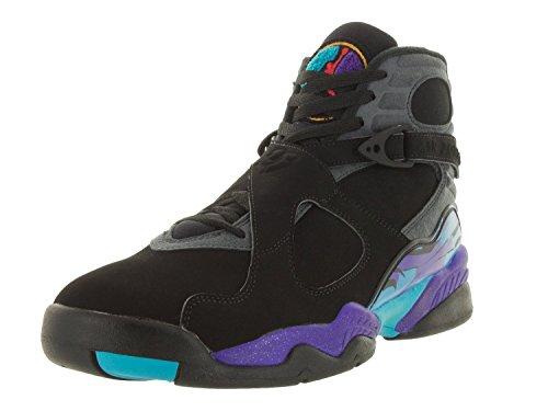 DGDG Air 8 Retro High-top Sports Shoes Fashion Men's Basketball Shoe Black Flint Grey Bright Concord True Red 9.5D(M) (Flint Footwear)