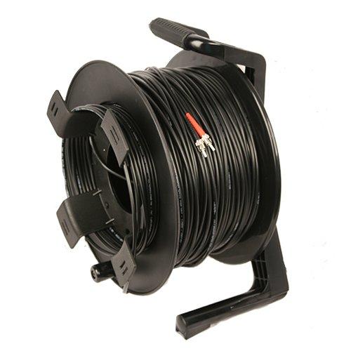 - TFS DuraTAC 2ST0500TFR Steel Armored Tactical Fiber Cable Reel, 500 feet, 2 Fiber, Single Mode, ST Connectors