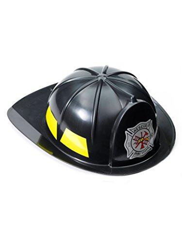 Black Fireman Child Hat (Kids Fireman Hat)