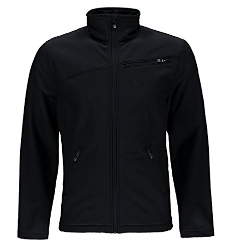 Spyder Men's Softshell Jacket, Black/Black, Large (Jacket Light Shell Soft)