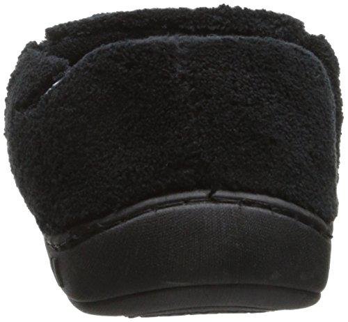 Isotoner Microterry Slip Heren Slippers Met Memory Foam Zwart