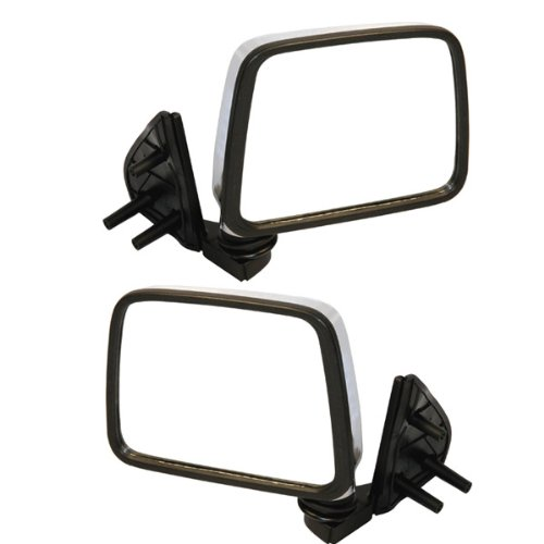 Pickup Chrome Manual Mirror - Koolzap For Manual Chrome Door Mirror Right Left Side SET PAIR D21 Hardbody Pickup Truck