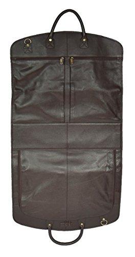 Echten weichen Leder Anzug Tragetasche Braun Kleid Abdeckung Reisen Cabin Tasche A173