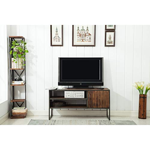 Crawford & Burke Media TV Stand in Distressed Drift Wood Finish