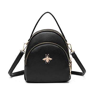Fashion Mini Backpack Purse for Women Girls Cute Shoulder Bags Black Size: Small
