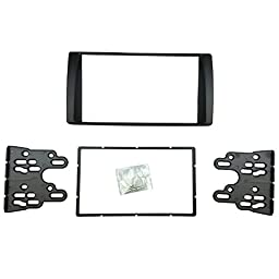 DKMUS Double Din Radio Stereo DVD Dash Installation Trim Kit for 2001 to 2006 Toyota Camry American Type Fascia Fits 173*98mm and 178*102mm Window Opening