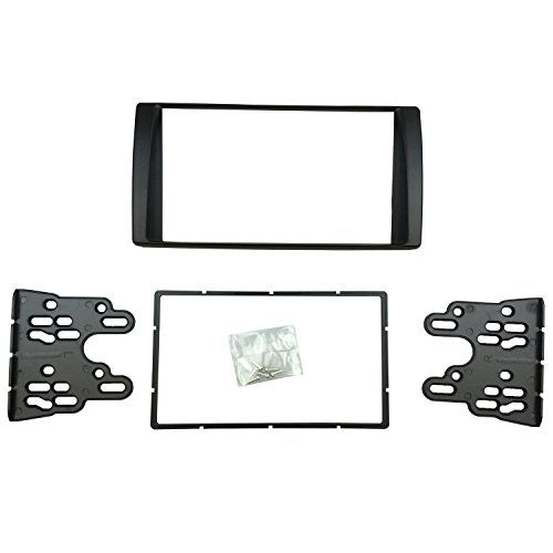 Stereo Dash Trim (DKMUS Double Din Radio Stereo DVD Dash Installation Trim Kit for 2001 to 2006 Toyota Camry American Type Fascia Fits 173*98mm and 178*102mm Window Opening)